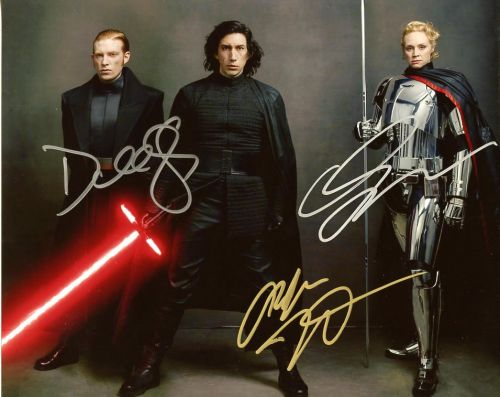 Dohmnall Gleeson / Adam Driver / Gwendoline Christie from the movie STAR WARS THE LAST JEDI